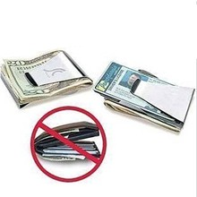 Superior Home Storage Bags Stainless steel  Money Clip Credit Card Holder Wallet Bags Slim  Double Sided BS