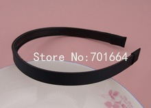 10PCS 12mm Black Grosgrain Ribbon Lined Black Plain Plastic Hair Headbands with teeth at eco-friendly material,teethed hairbands