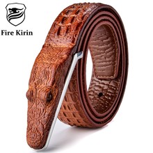 Mens Belts Luxury Leather Designer Belt Men High Quality Ceinture Homme Cinto Masculino Luxo Crocodile Cinturones Hombre 2017 B2
