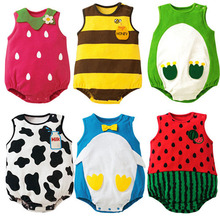 New Infant Baby Suit Girls Boys Cartoon Pattern Romper Jumpsuit Toddler Apparel