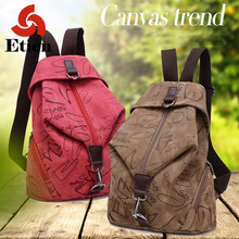 2016 New Fashion Backpacks for teenage girls Canvas Backpack Student Backpack Folding backpack zipper