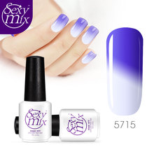 Sexy mix gel nail polish soak off temperature gel polish clear color glue UV gel led lamp nail low price nail gelishgel(China)