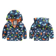 Baby Boy Autum Winter Jackets Long Sleeve Softshell Jacket Kids Active Hooded Coat 2-6 Years