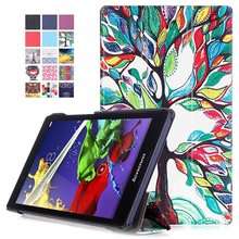 Buy Stand PU Leather Cover Case 2016 Lenovo Tab 3 8.0 850F/M TB3-850M TB-850M Tab3-850 Tablet Protective Case Cover Funda Capa for $9.82 in AliExpress store