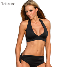Halter Bikini 2017 Swimwear Female High Waist Swimsuit Women Large Cup Brazilian Bikini Pad Biquini Push Up Sexy Bathing Suit