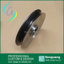 black ceramic pulley,aluminium guide pulley,v grooved guide pulley for Fine wire drawing machine
