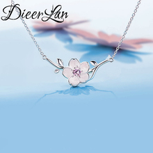 Buy 2017 New Arrivals 925 Sterling Silver AAA Zirconia Cheery Flower Necklaces Pendant Women Fashion sterling-silver-jewelry for $4.28 in AliExpress store