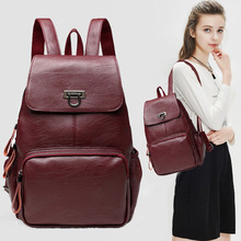 MIWIND Women Backpack Genuine Leather Backpacks Softback Bags Brand Name Bag Sheepskin Backpacks Girls Backpack WUB0017