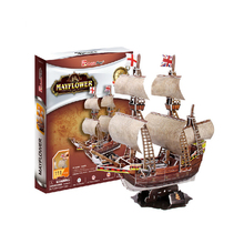 Development of intelligence,Educational toys,good quality,foam,emulational,best gifts,111pcs,paper model,sailing,3D PUZZLE