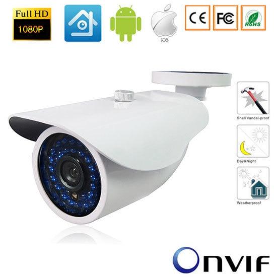 2.0MP 1080P Bullet Outdoor Onvif IP Camera P2P Plug&amp;Play Network Waterprooof Camera PC&amp;Mobile Phone View Onvif-xmeye<br>