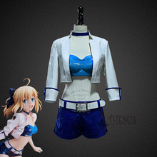 Athemis Fate Stay night cosplay Fate type moon racing.ver saber cosplay outfit(China)