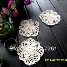 Free shipping European  Beige 12 pic/lot ZAKKA fashion lace felt for home decor innovative item as tableware cup pas potholder