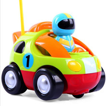10X Remote Control  RC Cartoon Race Car Music Light Electric Radio Control Toy for Baby Toddlers Kids and Children