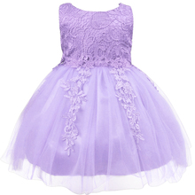 Blue Children's Party Dress Princess Evening Dresses for Girls Kids Infant Lace Children Sleeveless Elegant Dresses Purple