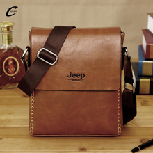LIN ZUO In 2017 New JEEP MAN BAG men's business casual pu leather shoulder bag Famous Brand men messenger bags 3 colors L48(China)