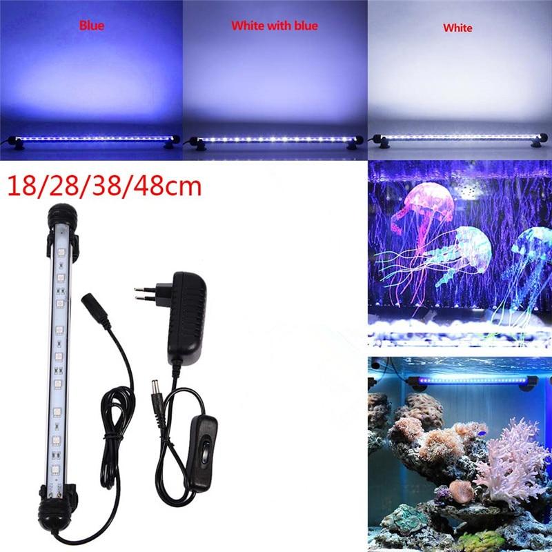 Aquarium-Fish-Tank-9-12-15-21-LED-Light-SMD5050-Blue-White-18-28-38-48CM (2)_
