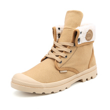 New Fashion Boots Men Canvas Shoes Ankle Boots Casual Design Shoes Warm Winter Botas With Fur High Quality Footwear