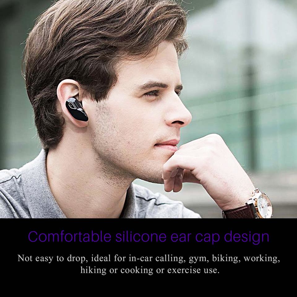 Fornorm Y96 Bluetooth Stereo Headphone Handsfree In-ear Bluetooth 4.1 Wireless Headsets for IPhone Samsung HTC
