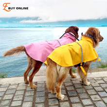 XS-XXXL The new large dog raincoat dog coat Leisure pet clothes dog raincoat teddy bear big dog raincoat factory direct sale(China)