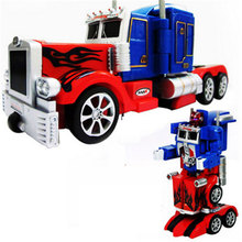 Action Figure Toy  RC Robot Car Big Size One Key Transformation Voice Walking USB Charger  Rc Truck