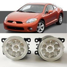 For Mitsubishi Eclipse 2006 2007 2008 2009 2010 2011 12 9-Pieces Leds Chips LED Fog Light Lamp H11 H8 12V 55W Halogen Fog Lights(China)