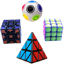 Boy toys Strange-shaped Magic Cube Puzzle Cubo Round Sphere Ball Gear Speed Cube Toy Game Stickerless Square Rubiks Twist(China)