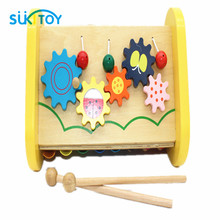 Baby Toy Wooden Toy Musical Toy 3-in-one Combination 8-Note Xylophone Knock Piano Smart Clever Development Musical Toys WD163