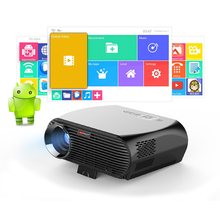 GP100 UP Video Projector 3200 Lumens Android 6.0.1 WIFI Bluetooth Home Theater Projector 1080p HD Movie Game Beame(China)