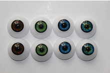 2 pairs Fit for 20 Inches Reborn Babies Doll Kits 20 mm Half Round Toys Eyes Acrylic Doll Eyes 6 Different Colors Can Be Choosen