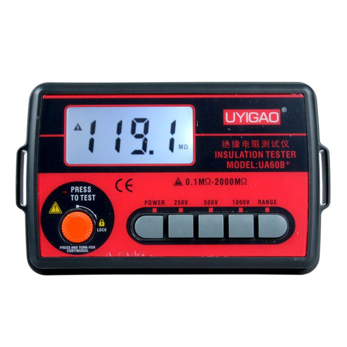 UYIGAO UA60B + insulation resistance tester, digital megger, 250V / 500V1000V Insulation shake table<br>