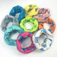 2017 new cute baby scarf lovely print scarf kids cotton scarf winter children collar boys girls cartoon scarf