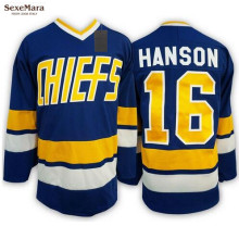 SexeMara Ice Hockey Flim Jersey Vintage Jack Hanson 16 Charlestown Chiefs Hockey Jersey Best for Winter Ice Sport Wear Wholesale