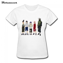 New Summer Naruto T Shirt Short Sleeve Cotton T-Shirt Women T-Shirts Tees Printed Comic And Animation Image WTM023