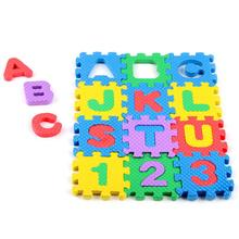 2017 Mini 36pcs EVA Puzzle Kid Toy Alphabet Letters Numeral Foam Mat Education Toys  D50