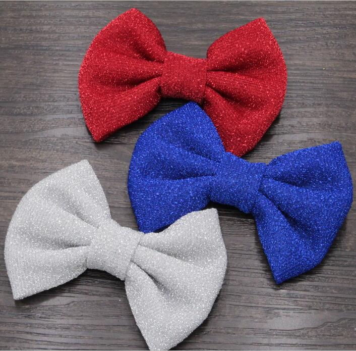 10pcs/lot 4th of July Hair Bows, Hair Accessories,Red/Blue/White 4 Glitter Hair Flowers(NO Clips), Headwear Free epacket/CAPA<br><br>Aliexpress