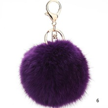 Wholesale Price Colorful Bag Car Keyring Rabbit Fur Soft Ball Charm Women Keychain For Keys Bags Key Hanging Tail Accessories(China)
