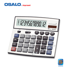 12 Digits Display Classical Economic Solar Calculator PC key Design Supermarket Dual Power Calculadora Financeira OS-8815(China)