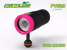 Free Shipping by DHL!  scubalamp PV52S video light white red UV LED 5000lm  underwater LED  Photo/Video torch dive flashlight