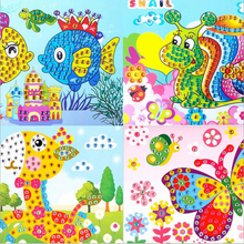 DIY 5D Diamond Painting  26*19cm  Puzzle Game Fish  Embroidery Children Diamond Painting Handmade Creative Puzzle Game Fish
