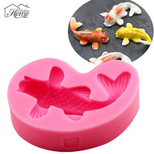3D Fish Silicone Cake Mold Fondant Candle Moulds Soap Mold Chocolate Mould Sugarcraft For The Baking Tools Cake Decorating