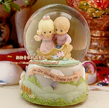ymy Genuine Hongkong baby time / crystal ball music box / box / Valentine / unique personality(China)