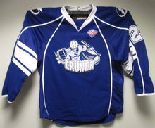 #22 Matthew Peca Syracuse Crunch Hockey Jersey Blue Embroidery Stitched Custom any Number and name Jersey(China)
