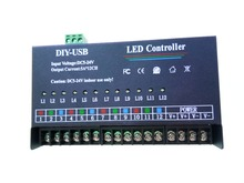 USB DIY LED RGB Controller 12 Channel Programmable Controller 5A*12CH;12Channels for 3528&5050 RGB strip Module DC5V DC12v DC24V(China)