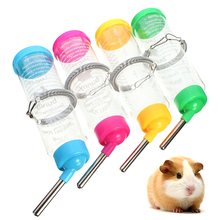 Auto Drinking Head Pipe Fountains Water Feeder Plastic Hamster Water Bottle Holder Dispenser Hanging Pet Bowl G01637