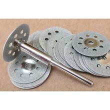 5PCS Power Tool Accessories Electric Grinding Mill Accessories Diamond Slicing Disk Cutting Blade Cutting Disc Hole with Shank