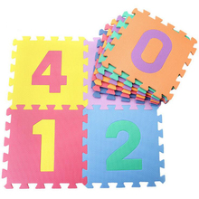 10pcs/set Puzzle Carpet Baby Play Mat Floor Puzzle Mat EVA Children's Foam Carpet Mosaic floor Developing Crawling Rugs(China)