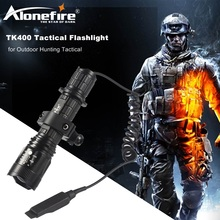 AloneFire TK400 Tactical Flashlight L2 LED Torch Lamp Flash Light Lantern with Mount Remote Control Pressure Switch by 18650(China)