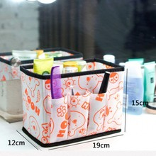 Home Office Desktop Decor Cosmetic Storage Box Organiser Foldable Makeup Container Sundries Storage Bins Cube Organizers