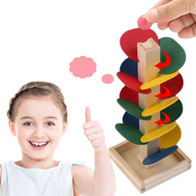 Toys For Children Lepin Creative Wooden Tree Blocks Marble Ball Run Track Game Toy Baby Kids Intelligence Educational Toy Hot