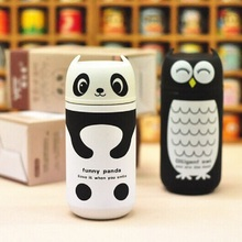 Cute Thermos Owl & Panda 220ml Stainless Steel Vacuum Cup light and portable kids water thermal bottle Thermocup garrafa(China)